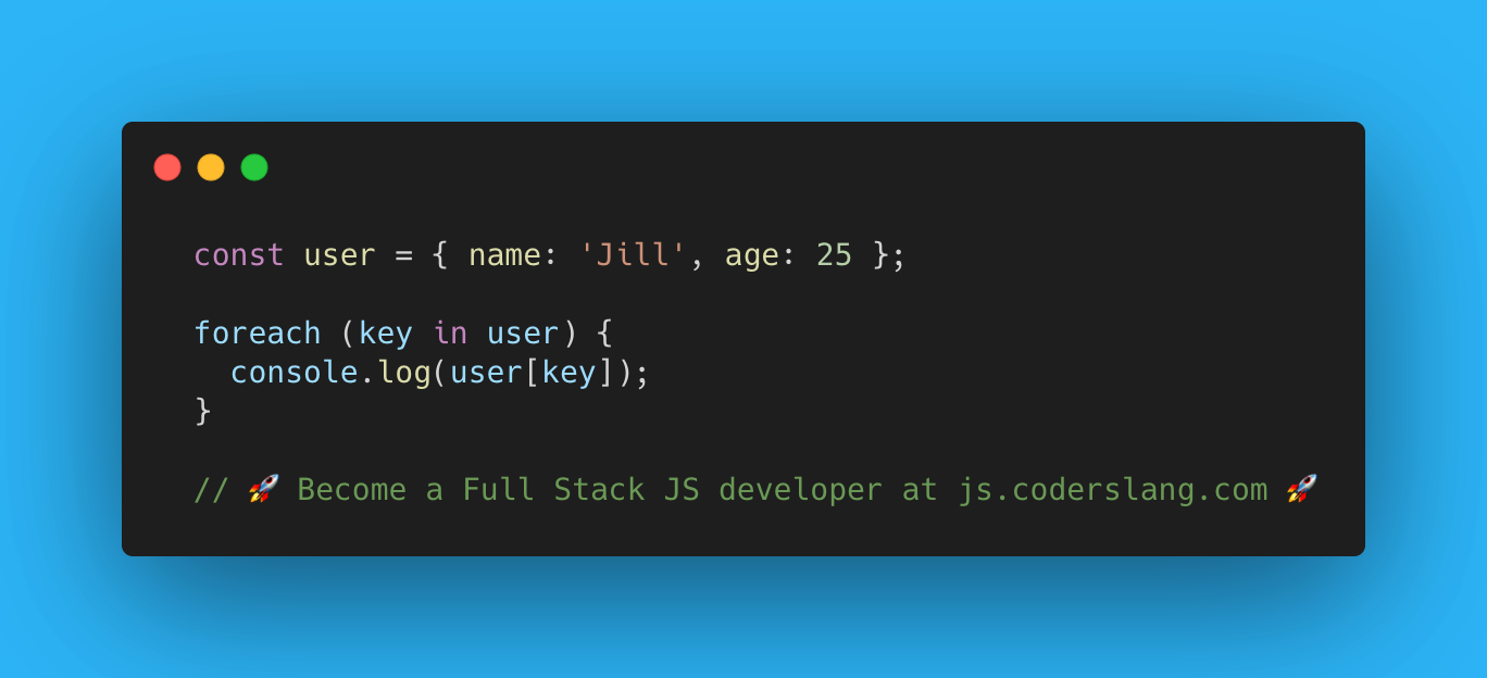 javascript interview question #51: for each key